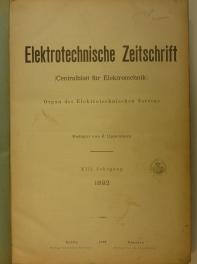 Elektrotechnische Zeitschrift 1892