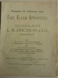 Ericsson Fire Alarm Apparatus 1903