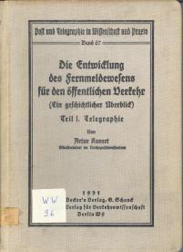 Post und Telegraphie in Wissenschaft und Praxis Band 67
