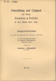S&H DissertationLudwig v. Winterfeld 1913
