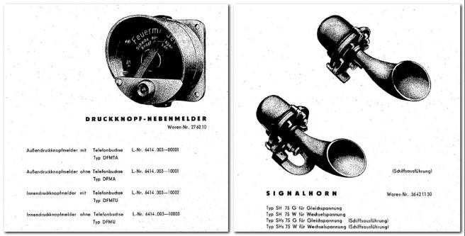 Druckknopf-Nebenmelder und Signalhorn