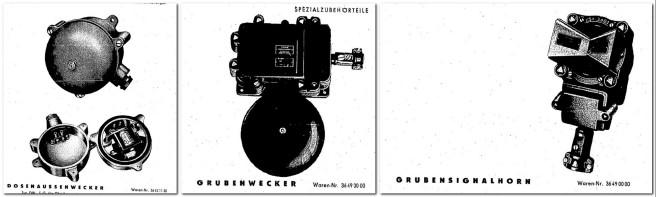 Grubenwecker und Grubensignalhorn